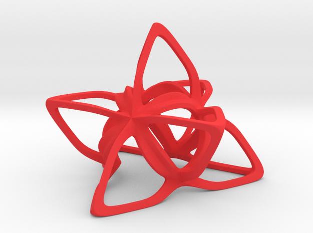 Merkaba Flatbase CurvaciousP - 7cm in Red Processed Versatile Plastic