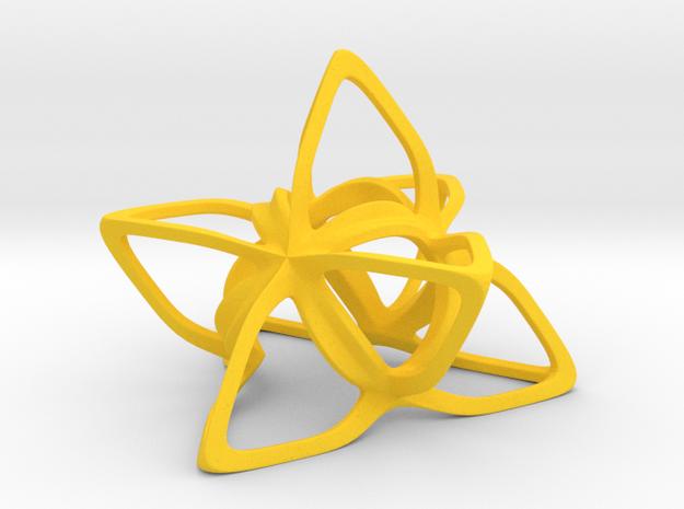 Merkaba Flatbase CurvaciousP - 5cm 3d printed