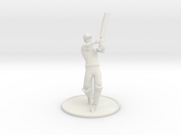 T20 Batsman  in White Natural Versatile Plastic