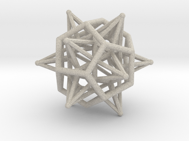 Dodeca Star Icoso Wire 4cm 3d printed
