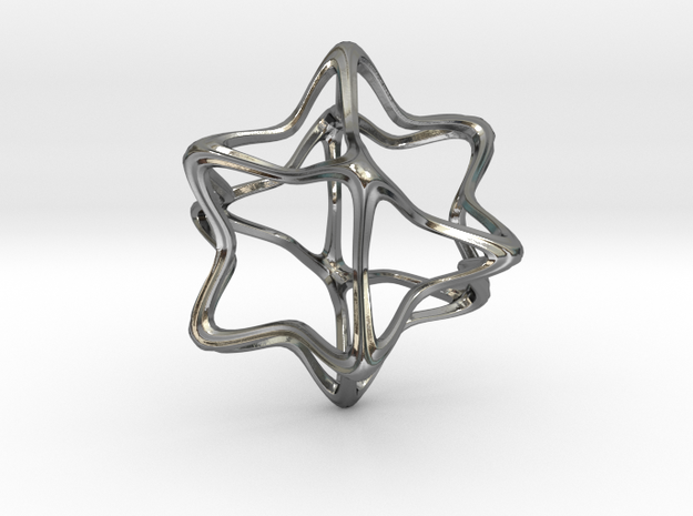 CubeOctoHedra Curvy Pinch - 5cm 3d printed