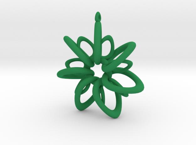 RingStar 7 points - 5cm, Loopet in Green Processed Versatile Plastic