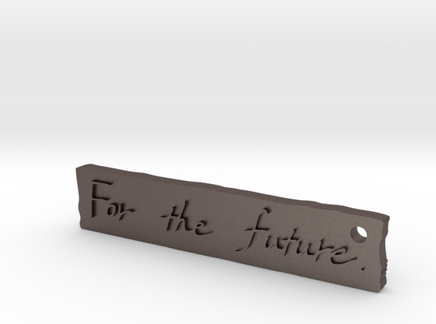 For The Future in Polished Bronzed Silver Steel