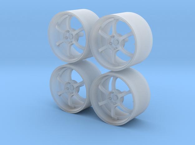 18'' 1/24 scale model wheels (Advan RG-D, male) in Smooth Fine Detail Plastic