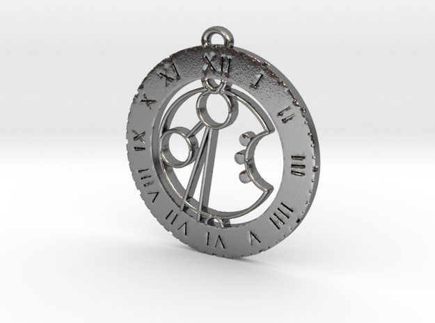 Armaan - Pendant in Polished Silver