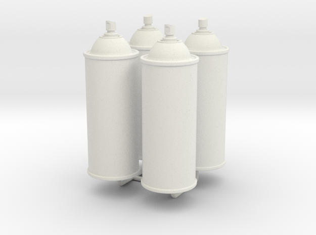 1/6 Scale Spray Cans X4