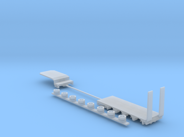 1:160/N-Scale 4-Axle Semitrailer 2 in Smooth Fine Detail Plastic