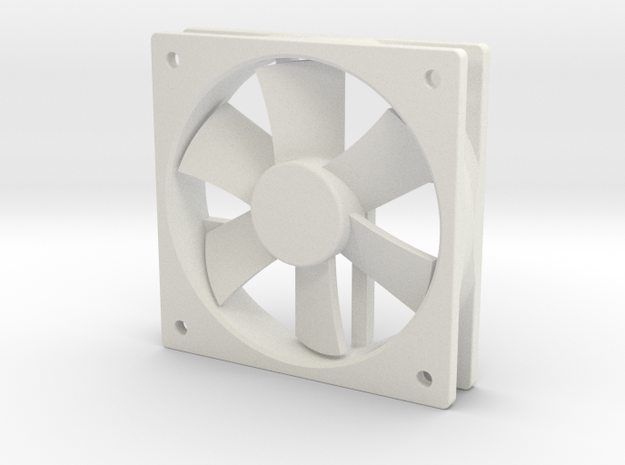 1/6 Scale 120mm Comp Fan in White Natural Versatile Plastic