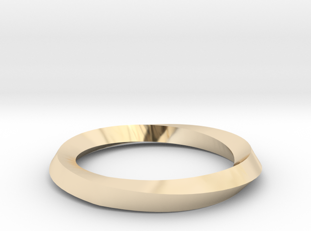 Mobius Wedding Ring-Size 6 in 14K Yellow Gold