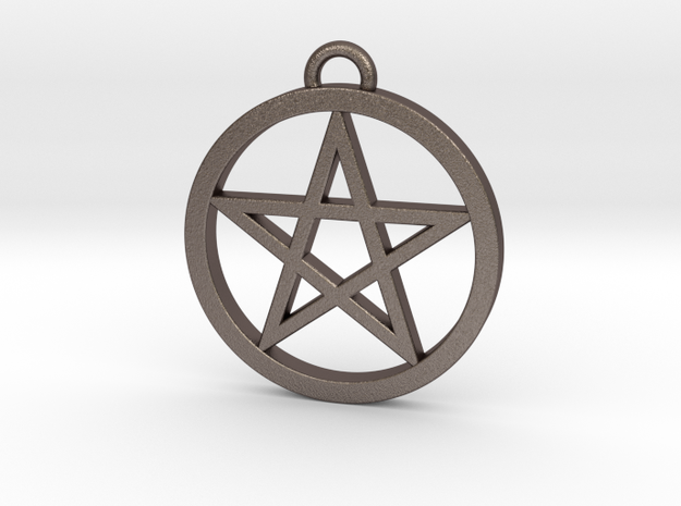 Pentacle Pendant / Keychain 3cm in Stainless Steel