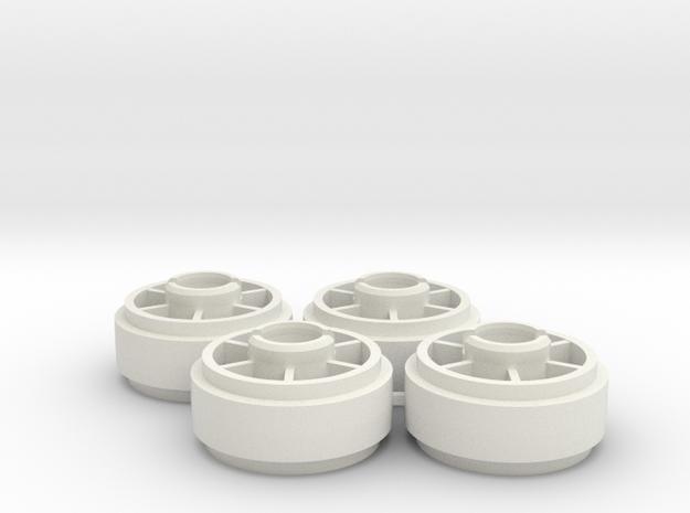 Mini-z NSR5229 19mm +2 Wheelset in White Strong & Flexible