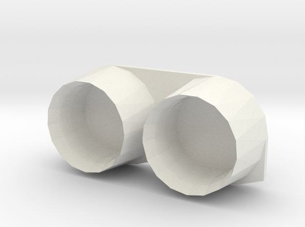 F-5 Engines Exhaust in White Natural Versatile Plastic