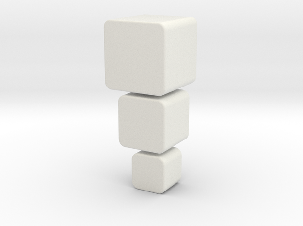 3 Little Boxes in White Natural Versatile Plastic