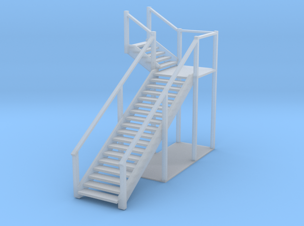 Bagby Hotel Stairs in Smooth Fine Detail Plastic