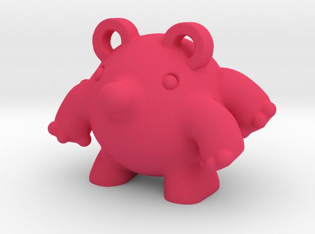 BALLS 1 in Pink Processed Versatile Plastic