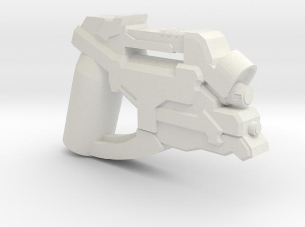 Combat Engineer Pistol in White Natural Versatile Plastic