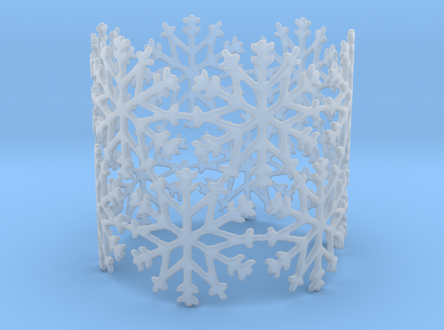 Snowflake Tea Light Ring 3d printed