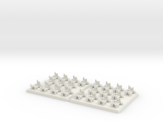 3mm DBA Chariots 40x40mm (x2) in White Natural Versatile Plastic