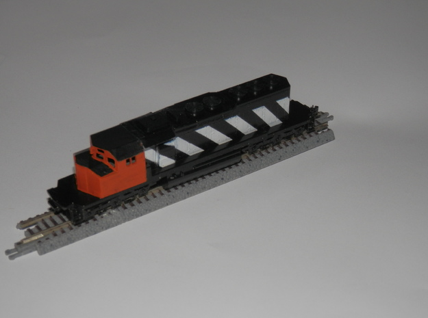 Z Scale SD-40w cab body in Smoothest Fine Detail Plastic