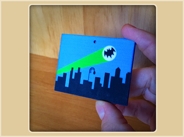 Bat Signal Ornament in Full Color Sandstone
