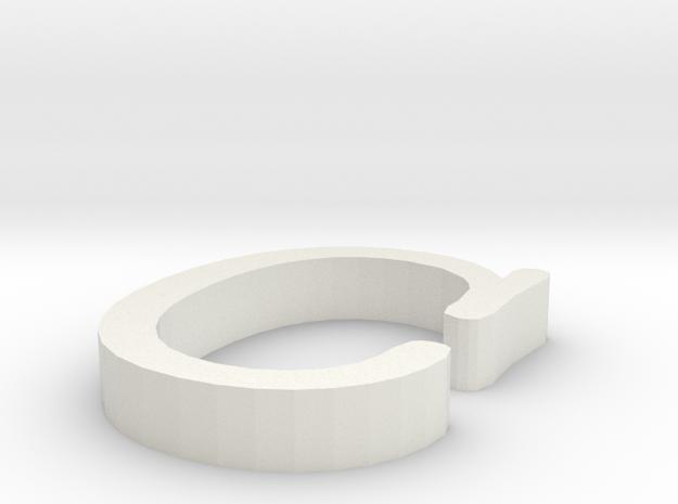 C Letter  in White Natural Versatile Plastic