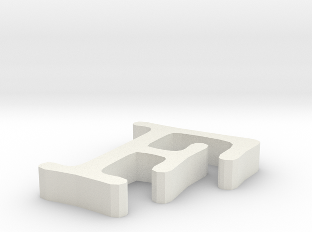 F Letter in White Natural Versatile Plastic