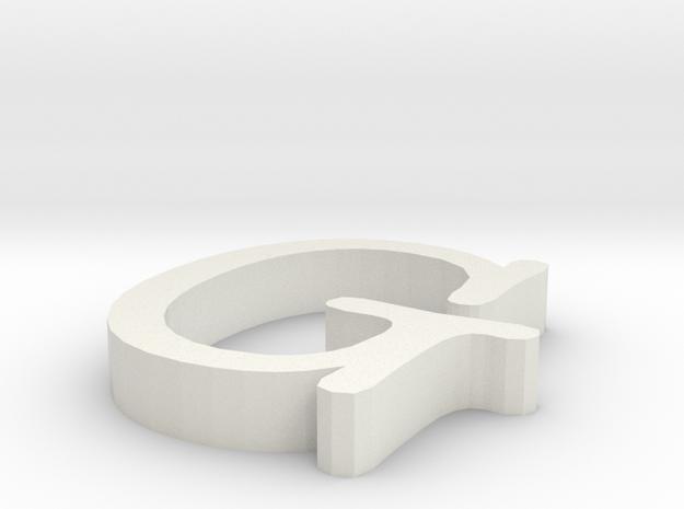 G Letter in White Natural Versatile Plastic