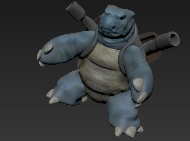 Realistic Pokemon! Blastoise  in White Natural Versatile Plastic
