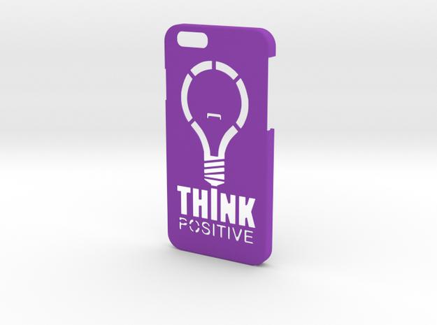 Think Positive for iPhone 6 in Purple Processed Versatile Plastic