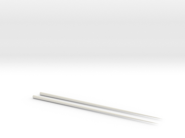 Chopsticks in White Strong & Flexible
