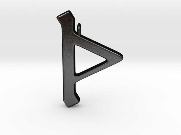 Rune Pendant - Þorn in Matte Black Steel