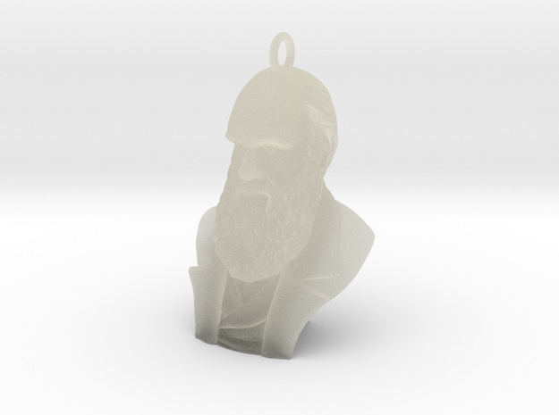 "Charles Darwin 1"" Bust, Pendant, Ear Ring, Charm,"