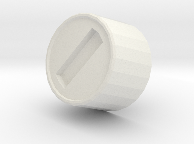 Mk III - SmallChestFastener in White Natural Versatile Plastic