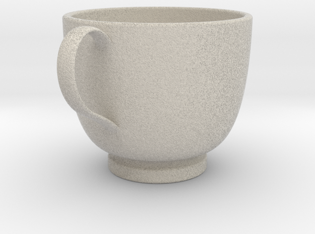 Turkish Coffee Cup in Natural Sandstone