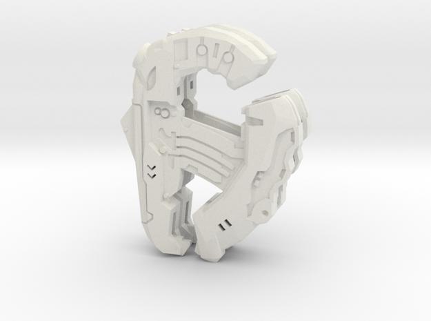 1:6 Large Direct Energy pistol x2 in White Natural Versatile Plastic