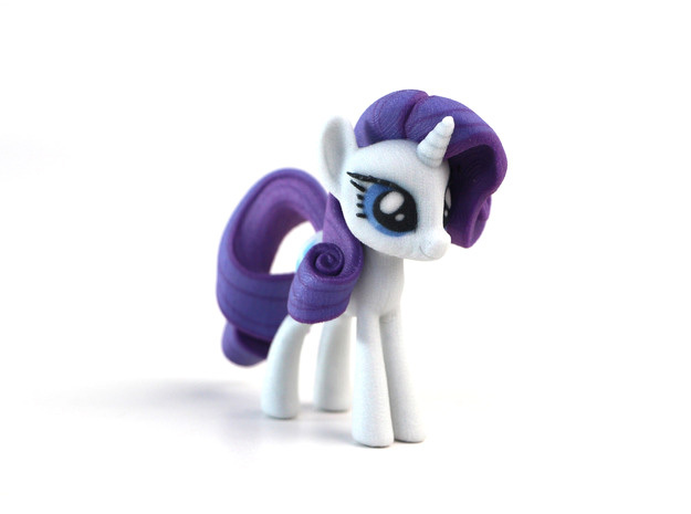 My Little Pony - Rarity (≈75mm tall) in Full Color Sandstone