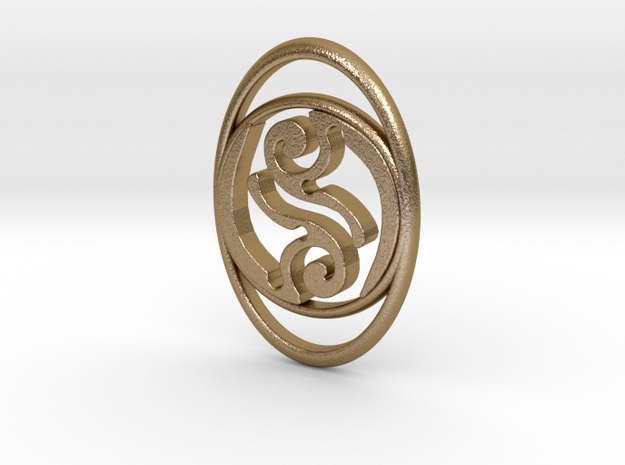TribeAeon Adaptable Pendant or Bracelet in Polished Gold Steel