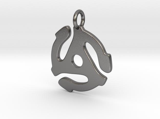 45 Rpm Pendant in Polished Nickel Steel