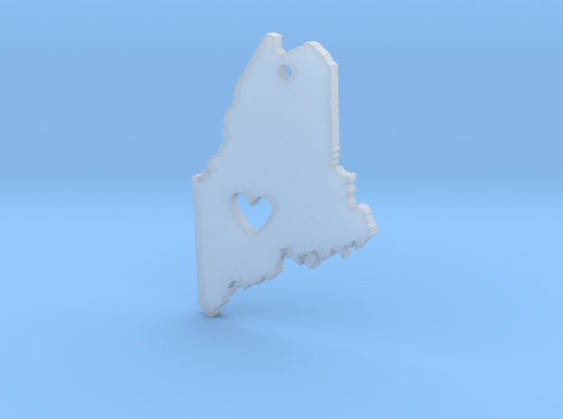 I love Maine Pendant in Smooth Fine Detail Plastic