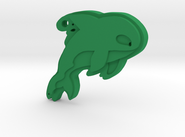 Orca Whale in Green Processed Versatile Plastic