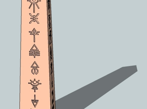 6mm Eldaritch Obelisk 3d printed