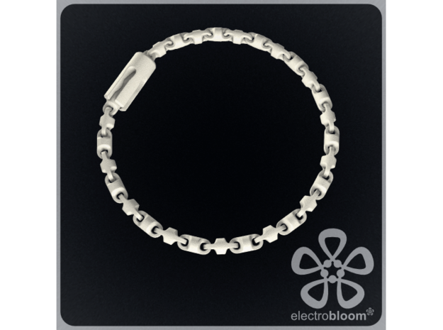 Fine barrel chain short necklace. in White Natural Versatile Plastic