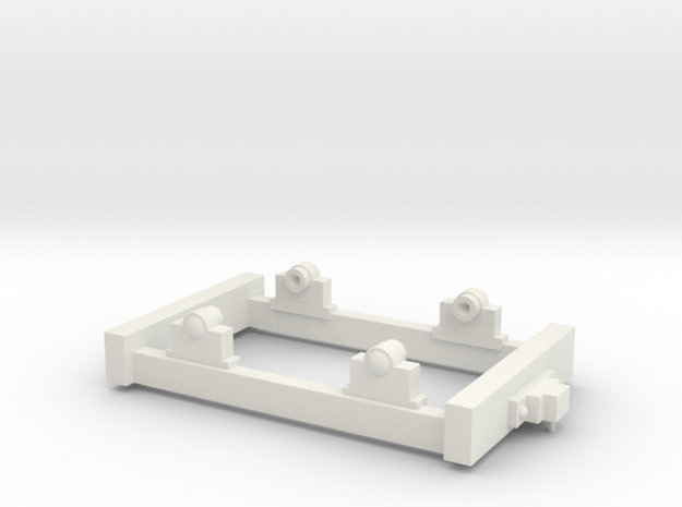 Gn15 Small Truck Chassis in White Natural Versatile Plastic