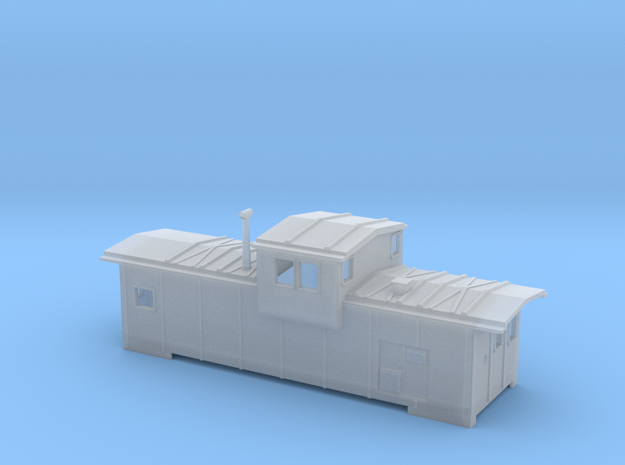 DMIR Caboose Modern (no floor) - Nscale in Smooth Fine Detail Plastic