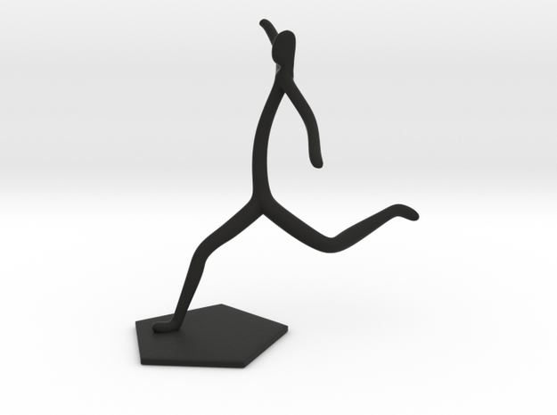 Soccer Statue in Black Natural Versatile Plastic