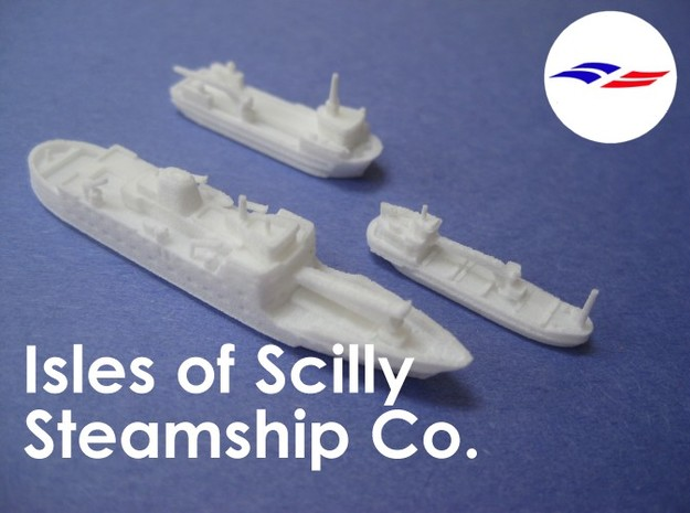 1:1200 Isles of Scilly Steamship Co 3d printed