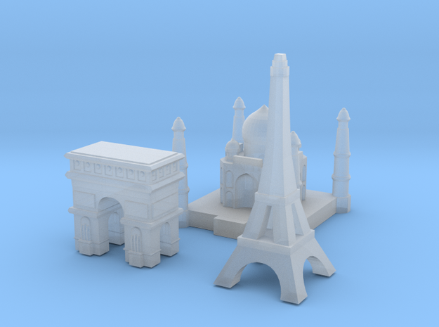 Capital Set (France & India) in Smooth Fine Detail Plastic