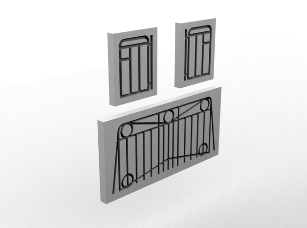 NAL Handrail Template(HO/1:87 Scale) in White Natural Versatile Plastic