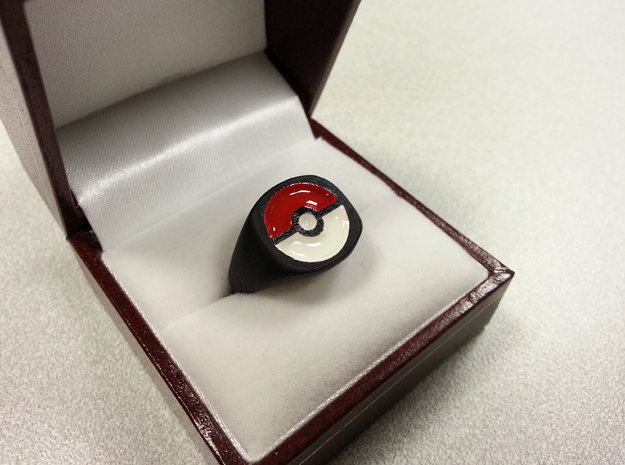 Pokeball Ring-Wide Band (Edit size in description)