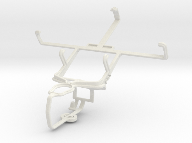 Controller mount for PS3 & LG Thrill 4G P925 in White Natural Versatile Plastic